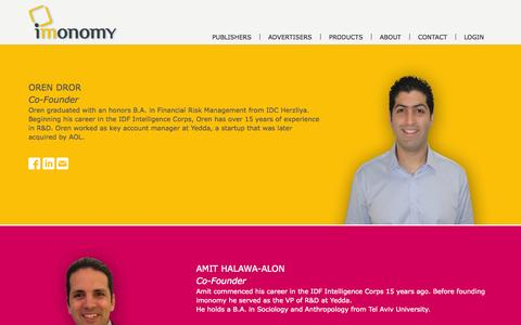 Screenshot of Team Page imonomy.com - The Team | Imonomy - captured Sept. 16, 2014