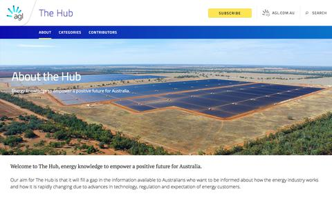 Screenshot of About Page agl.com.au - About | AGL - captured July 6, 2018