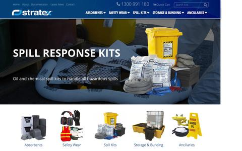 Screenshot of Home Page stratex.com.au - Spill response containment equipment and spill station supplies - Stratex - captured Sept. 2, 2015