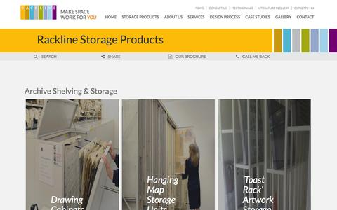 Screenshot of Products Page rackline.com - Rackline Storage Products | Rackline - captured Aug. 16, 2015