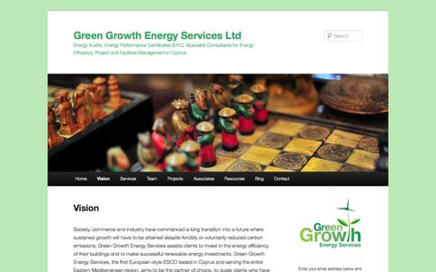 Screenshot of About Page greengrowthenergy.eu - Vision | Green Growth Energy Services Ltd - captured Oct. 1, 2014