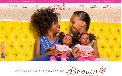 Screenshot of Home Page prettybrowngirl.com - Pretty Brown Girl - Pretty Brown Girl - captured Sept. 23, 2015