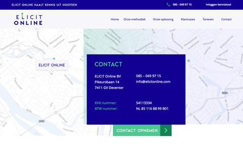 Screenshot of Contact Page elicitonline.com - Contact - Elicit Online - captured Sept. 27, 2018