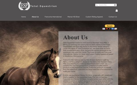 Screenshot of About Page total-equestrian.com - Total Equestrian | Total Equestrian Products | About Us - captured Oct. 20, 2018