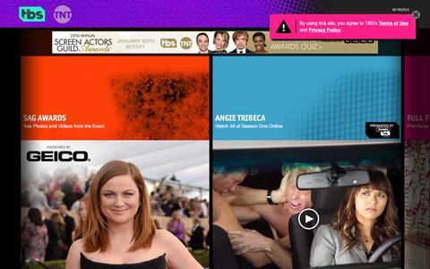 Screenshot of Home Page tbs.com - Watch Funny TV Shows and Movies on tbs - captured Feb. 1, 2016