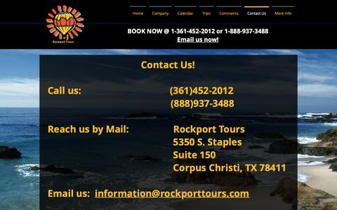 Screenshot of Contact Page rockporttours.com - rockporttours | Contact Us - captured Oct. 22, 2018
