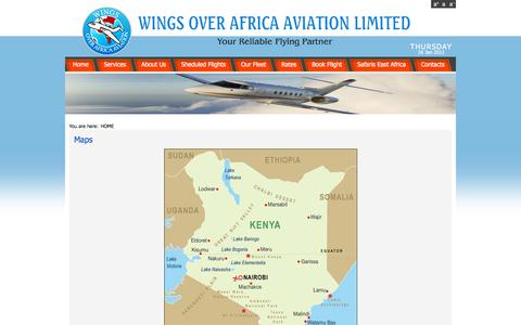 Screenshot of Maps & Directions Page wingsoverafrica-aviation.com - Maps - captured Oct. 21, 2017
