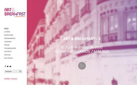 Screenshot of Home Page art-breakfast.com - Art & Breakfast 2 - Inicio Art & Breakfast - captured March 13, 2016