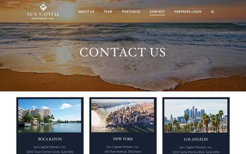 Screenshot of Contact Page suncappart.com - Contact Us | Sun Capital Partners - captured June 24, 2017
