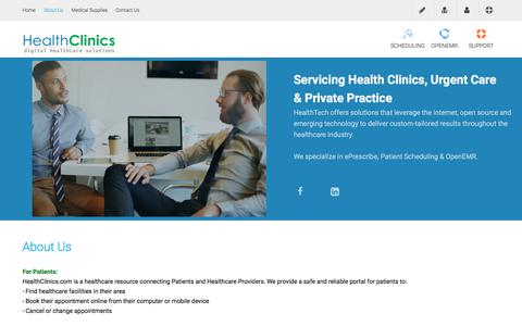 About Us - Digital Healthcare Solutions For Health Clinics, Urgent Care & Private Practice ~ HealthClinics.com