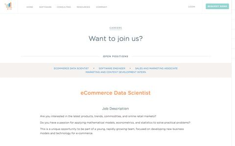 Screenshot of Jobs Page teikametrics.com - Careers at Teikametrics - captured Oct. 26, 2014