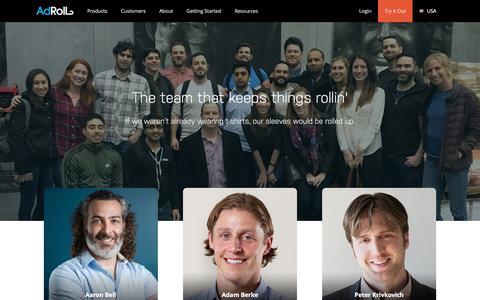 Screenshot of Team Page adroll.com - AdRoll - Team - captured Jan. 28, 2017