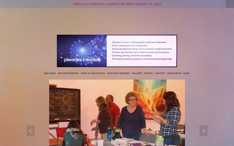 Screenshot of Press Page pleiadesinitiative.com - Gallery Ń - captured Dec. 10, 2015