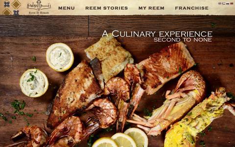 Screenshot of Home Page reemalbawadi.com - Reem al bawadi - Best Arabic restaurant in Dubai - UAE. - captured Feb. 16, 2016