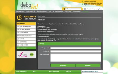 Screenshot of Contact Page deboled.nl - Contact | Deboled - captured May 28, 2016