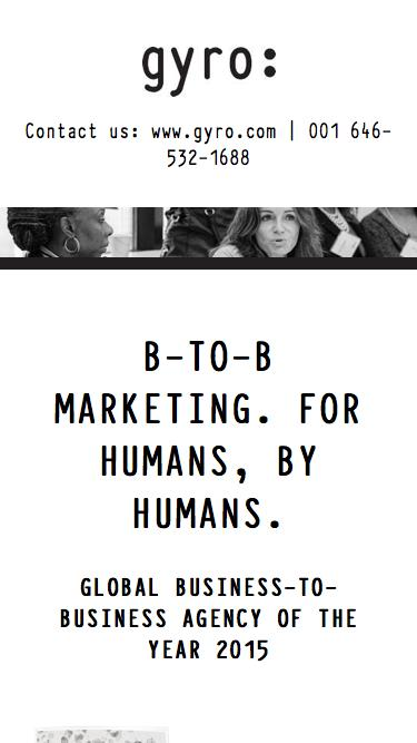 B-TO-B MARKETING. FOR HUMANS, BY HUMANS.