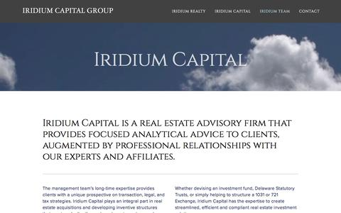 Screenshot of About Page iridiumcapllc.com - About — Iridium Capital Group - captured Feb. 11, 2016