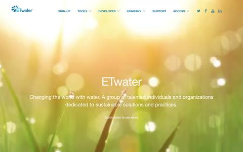 Screenshot of About Page etwater.com - About Us | Sustainable Water Systems, Solutions, & Practices - captured May 9, 2017