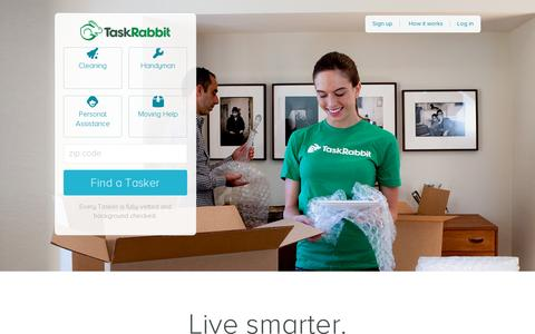 Screenshot of Home Page taskrabbit.com - TaskRabbit connects you to safe and reliable help in your neighborhood. - captured July 11, 2014