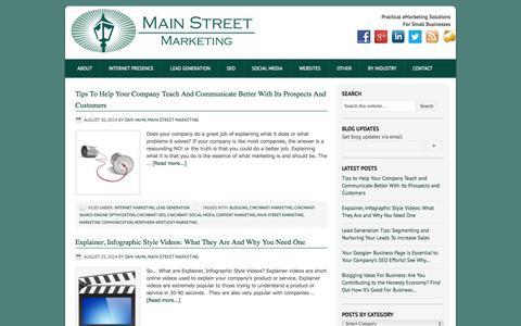 Screenshot of Blog main-street-marketing.com - BLOG | main-street-marketing.com - captured Sept. 30, 2014