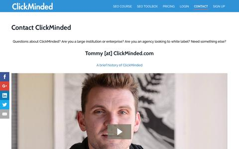 Screenshot of Contact Page clickminded.com - Contact - ClickMinded - captured Nov. 4, 2015