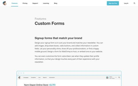 Custom Newsletter and Email Forms
