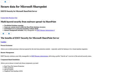 Microsoft SharePoint Security | ESET