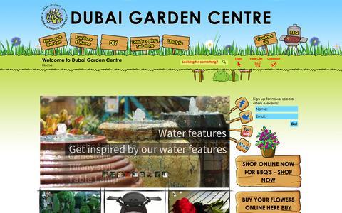 Screenshot of Home Page dubaigardencentre.ae - Dubai Garden Centre - captured Jan. 7, 2016