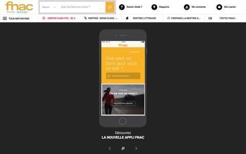 Screenshot of fnac.com - Application Fnac, vos applications Marketplace, Kobo et Jukebox. - captured Aug. 30, 2017
