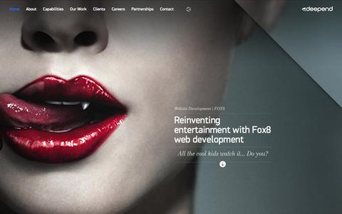 Screenshot of Home Page deepend.com.au - Deepend | Digital Agency Sydney & Melbourne | Design & Strategy - captured Sept. 19, 2014