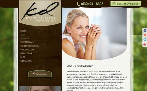 Screenshot of Team Page koppdental.com - Prosthodontist Chicago | Dr. Kopp of Elmhurst IL - captured Oct. 6, 2014