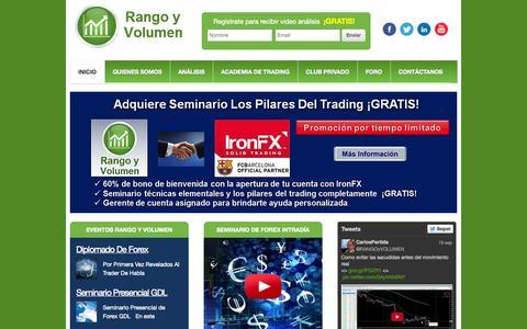Screenshot of Home Page rangoyvolumen.com - Inicial - Rango y Volumen - captured Sept. 23, 2014