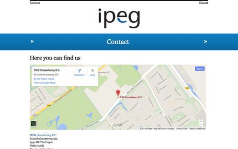 Screenshot of Contact Page ipegconsultancy.com - IPEG Consultancy » Contact - captured Oct. 4, 2014