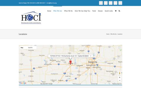 Screenshot of Locations Page hcci-ks.org - Locations – Housing & Credit Counseling, Inc. - captured Aug. 29, 2017