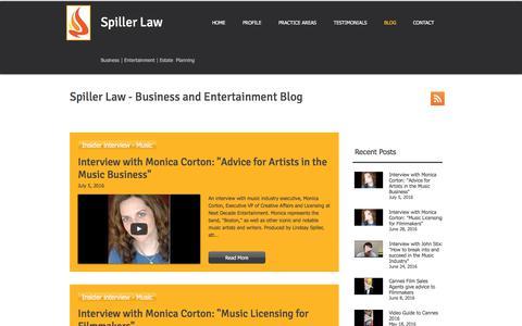 Screenshot of Blog spillerlaw.com - Spiller Law | Business Attorney | Sports Attorney | Law Firm Blog - captured June 15, 2017