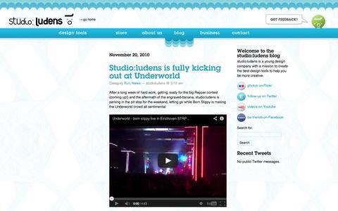 Screenshot of Blog studioludens.com - Blog - captured Oct. 9, 2014