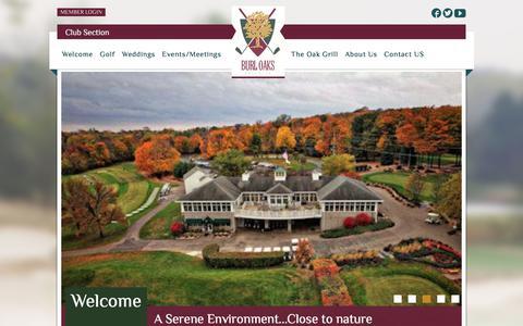 Screenshot of Home Page burloaksgolfclub.com - Welcome - Burl Oaks Golf Club - captured Aug. 4, 2018