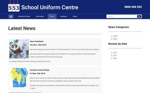 Screenshot of Press Page schooluniformcentre.co.nz - School Uniform Centre - School Uniform Centre - captured Dec. 9, 2018