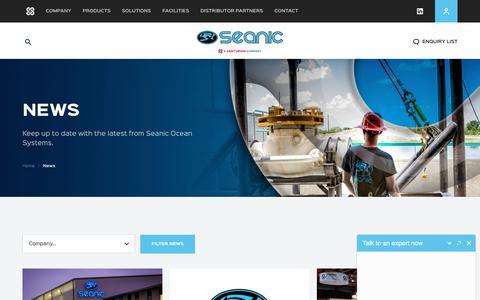 Screenshot of Press Page seanicusa.com - Seanic Ocean Systems | News - captured Sept. 24, 2018