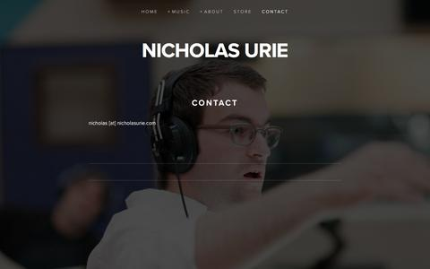 Screenshot of Contact Page nicholasurie.com - Contact — nicholas urie - captured March 2, 2017