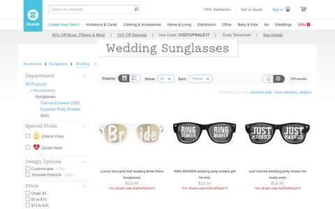 Wedding Sunglasses & Eyewear | Zazzle