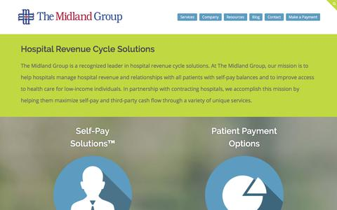 Screenshot of Services Page midlandgroup.com - Hospital Revenue and Revenue Cycle Solutions - The Midland Group - captured Sept. 19, 2017