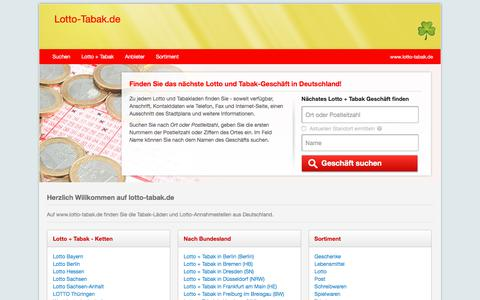 Screenshot of Home Page lotto-tabak.de - Lotto und Tabakläden in Deutschland | Lotto-Tabak.de - captured Sept. 23, 2018