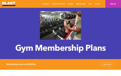 Screenshot of Locations Page blastfitness.com - Our Locations - Join a Gym Near You - Blast Fitness - captured Aug. 2, 2018