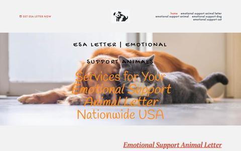 Screenshot of Home Page pawandwhiskers.org - Emotional Support Animal Letter | ESA Letter for Housing & Travel | Emotional Support Dogs & Cats - captured Nov. 13, 2019