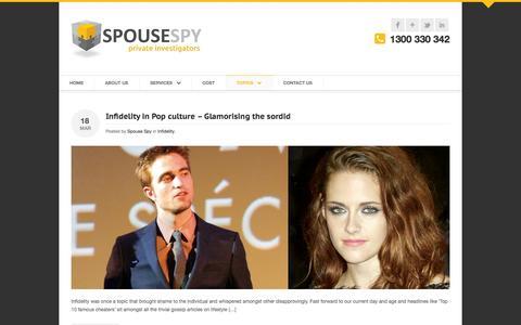 Screenshot of Blog spousespy.com.au - Topics - Spouse Spy - captured Oct. 6, 2014