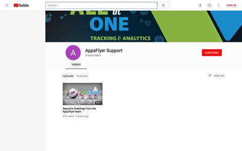 AppsFlyer Support - YouTube - YouTube