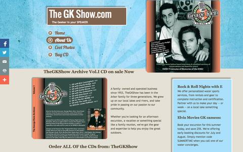 Screenshot of About Page Privacy Page thegkshow.com - About Us - captured Oct. 26, 2014