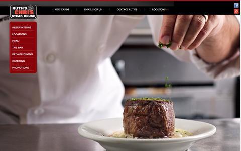 Screenshot of Home Page ruthschris.com - Ruth's Chris Steak House - The Best USDA Prime Steak Restaurant - captured Sept. 23, 2014