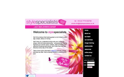 Screenshot of Home Page stylespecialists.co.uk - Style Specialists: Image and Style Consultants (info@styleconsultants.co.uk) - captured Oct. 9, 2014
